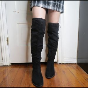 Over Knee Faux Suede Boots